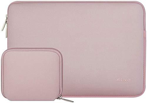 MOSISO Laptop Sleeve Kompatibel mit 13-13,3 Zoll MacBook Pro, MacBook Air, Notebook Computer, Wasserabweisend Neopren Tasche mit Klein Fall, Baby Rosa