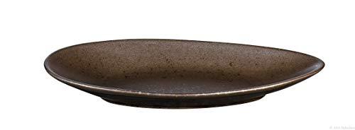 ASA Selection CUBA MARONE assiette plate ovale 25cm