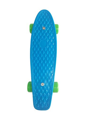 SK8MEMO 17X5inch Kids Skateboard, Mini Skateboard for Beginners (Blue)