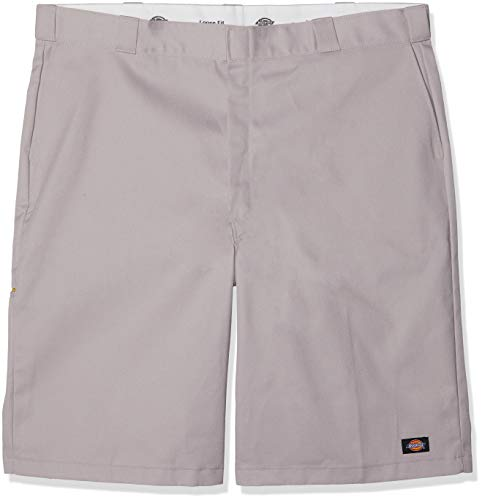 Dickies Men's 13 Inch Loose Fit Multi-Pocket Work Short, Silver Gray, 36