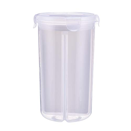 Ecurson Airtight Food Storage Containers Cereal Dry Food Storage Container Transparent Plastic Storage Box Leak proof BEST Airtight Kitchen Pantry Bulk Food (1L)