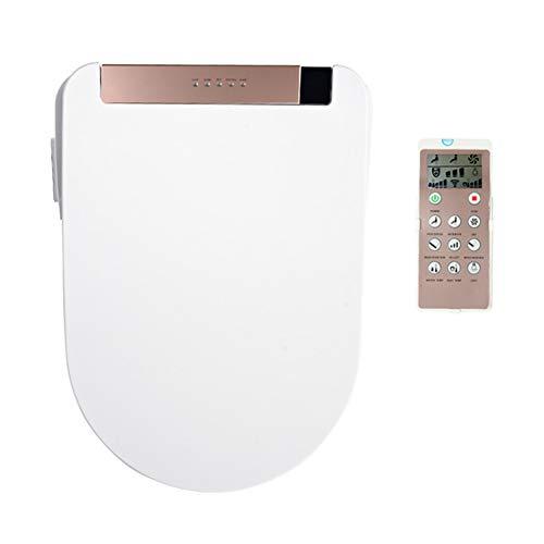 BCXGS Coperchio Bidet Elettrico, Impermeabile Sedile WC Riscaldamento del Sedile del Water, Copriwater WC LCD con Funzione bodyclean per igiene corporale,Rose