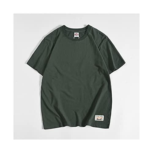 Yokbeer Camiseta Original para Hombre de Manga Corta para Hombre Camiseta de Manga Corta Elástica con Cuello Redondo y 100% Algodón para Hombre Camiseta de Manga Corta para Hombre