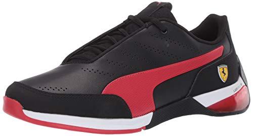 PUMA Unisex's Ferrari Kart Cat X Sneaker, Black-Rosso Corsa, 12