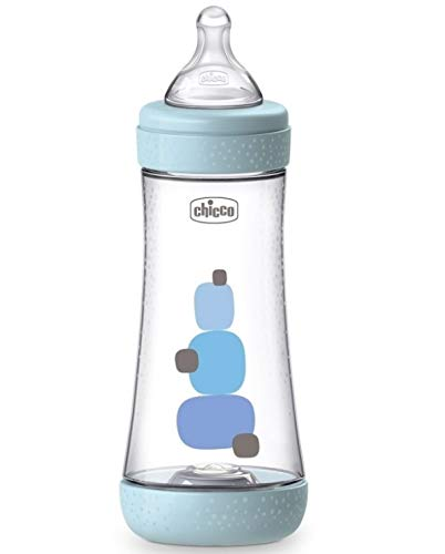 Chicco Biberón Perfect 5 4M+ 300ml Silicona aZUL