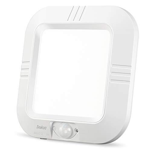 SNAKOO Batterie Sensorleuchte LED Deckenlampe mit Bewegungsmelder Kabellos Deckenleuchte Tageslicht Korridor Bad Balkon, Batteriebetriebene, Nachtlicht, Innenbeleuchtung