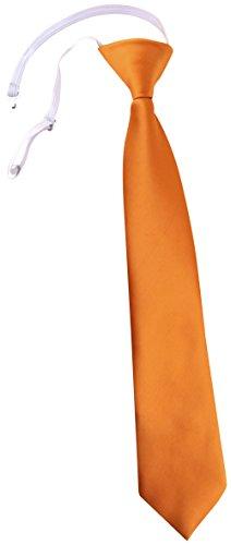 TigerTie TigerTie Security Sicherheits Krawatte in orange Uni einfarbig - vorgebunden Gummizug