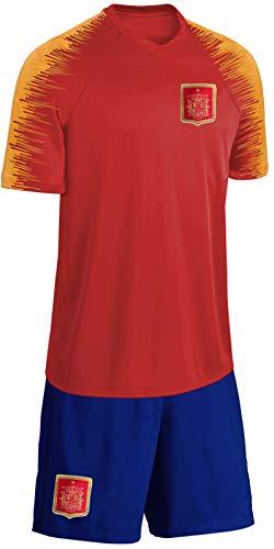 Blackshirt Company Spanien Trikot Set Kinder Fußball Fan Zweiteiler Rot Blau Größe 104
