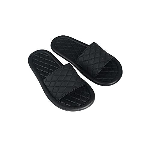 QPPQ Zapatillas de secado rápido, bonitas pantuflas para parejas en casa, sandalias antideslizantes para baños: negro 1_6.5, zapatillas para mujer y hombre de ducha