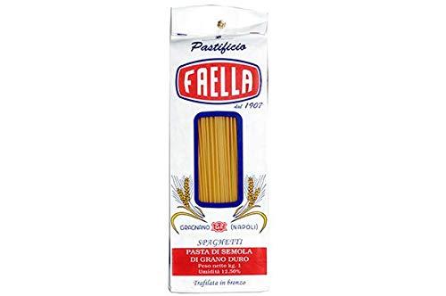 Spaghetti. Pastificio Faella. 10 x 1 kg - 10 kg. Pasta di gragnano trafilata in bronzo e impasto lento.