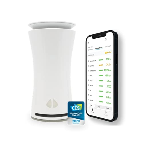 uHoo Smart Air Quality Sensor – 9 in 1 Indoor Air Monitor with...