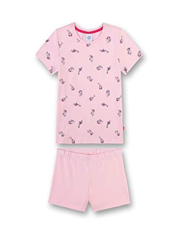Sanetta Mädchen Schlafanzug kurz Bekleidungsset, Rosa (Pink Rose 38080), 98 (Herstellergröße: 098)