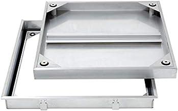 【ナカ工業】床点検口 〜業界トップクラスの防水性・防臭性・耐久性〜 NH BBS オールステンレス 専用ハンドル付き (600×600)