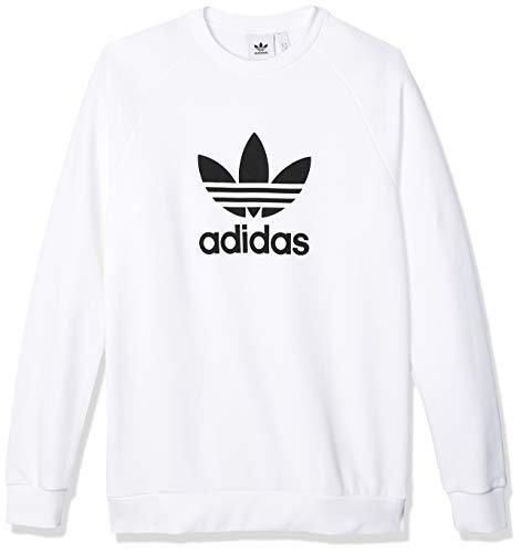 adidas Herren Trefoil Crew Sweatshirt, White, XL