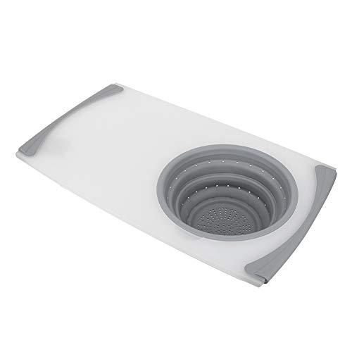 3 en 1 fregadero retráctil multifuncional que corta la tabla de cortar que drena la cesta de Stroage para la cocina