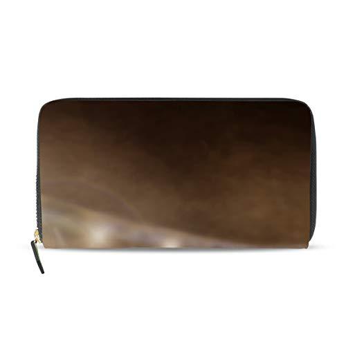 BKEOY Damen Leder Lange Geldbörse Baseball Handschuh Ball Reißverschluss Geldbörse Kreditkarten-Halter