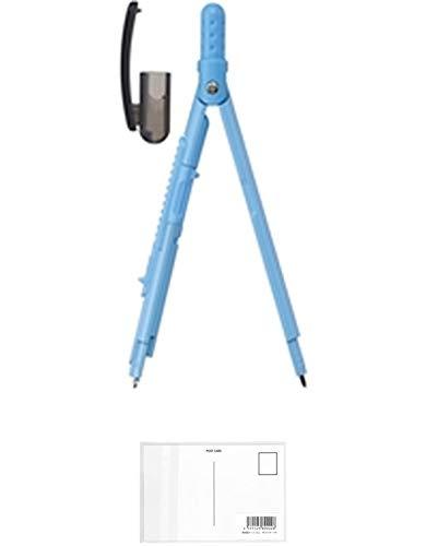 レイメイ藤井 コンパス ペンパス シャープタイプ ブルー JC903A + 画材屋ドットコム ポストカードA