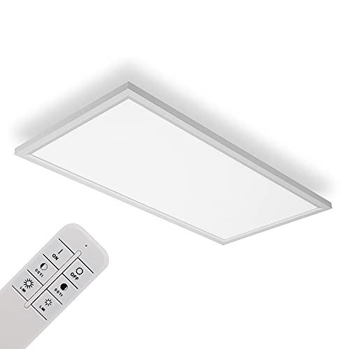 IMPTS LED Deckenleuchte Panel dimmbar 30x60 cm, 30W Extra Flache Deckenpanel Lampe, indirekter Deckenbeleuchtung, Farbtemperatur mit Fernbedienung einstellbar, Schlafzimmer Wohnzimmer Küche 3000-6500K