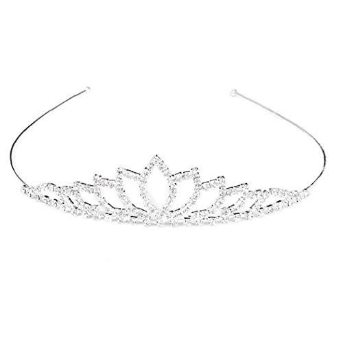 NaisiCore Conjunto de Joyas Tiara del Diamante Diadema Banda para el Cabello de Cristal de la Corona de los Aros del Pelo de la Boda de la Novia de la Corona de la voga Princesa de Las Muchachas