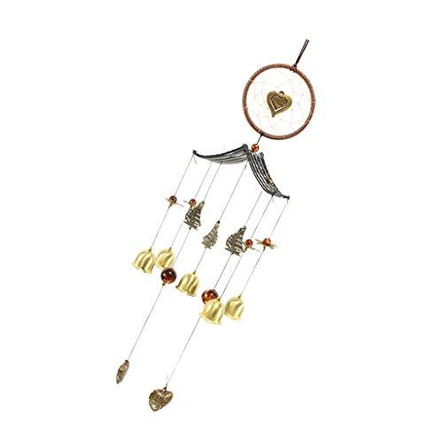 non-brand Glück Windspiel Klangspiel Traumfänger Glocke Feng Shui Feder, Glück und sicher segen - # 5 Herz