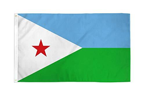Dschibuti 3'x2' Flagge