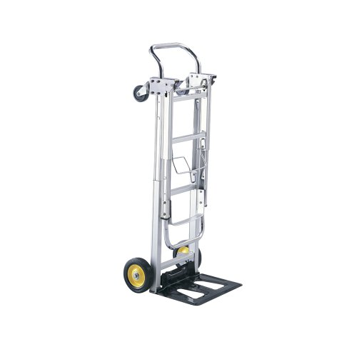 Safco Products Hide-Away Convertible Hand Truck , Dual Function, 400 lbs. Total Capacity, Aluminum...