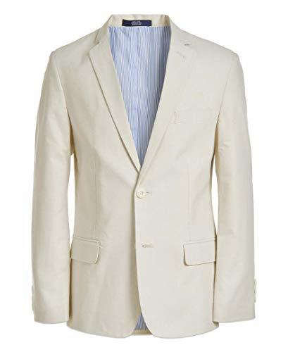 IZOD Boys' Big Patterned Blazer Jacket, Bamboo, 8