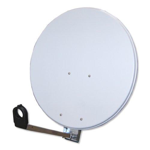 Antenne Gibertini 60-65 cm Alu Unverpackt Hellgrau Sat Spiegel Schüssel