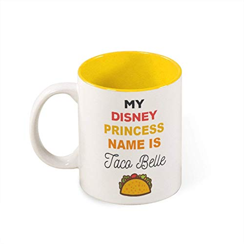 Mug- My Princess Name Is Taco Belle Funny White Mug Birthday Presentchristmas Giftpersonalized Mug White Mugoffice Joke, 11oz Funny Coffee Mug,mg2727