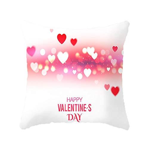 Janly Clearance Sale Funda de almohada, para el día de San Valentín, funda de almohada decorativa, funda de almohada creativa, para Navidad, hogar y jardín, (C)
