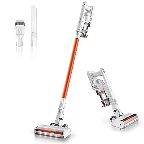 Cordless Vacuum Cleaner, 2.9lb Lightweight Stick Vacuum Rechargeable Battery Powered Pet Hair Vacuum, Portable 2 in 1 Handheld Vacuum for Hard Floor Car, W5