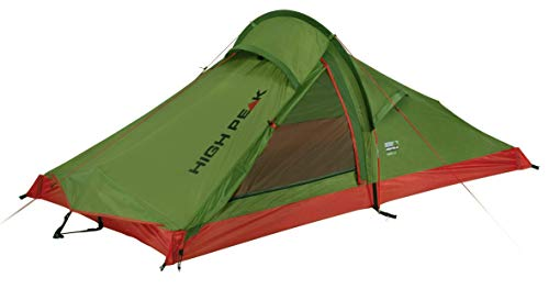High Peak Lightweight tent, camping tent for 2 people, Siskin 2.0 tunnel tent only 1.7 kg, single roof trekking tent, 3000 mm water view, quick assembly and small pack size.