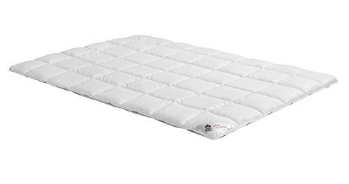 Badenia Bettcomfort Irisette Freiburg Steppbett, Duo Bettdecke für den Winter, 155 x 220 cm, weiß