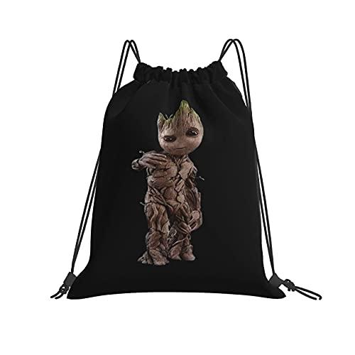 Baby Groot - Mochila con cordón impermeable para gimnasio, con cordón, unisex, para mujeres, hombres, vida diaria, al aire libre, casual, deporte, yoga, escuela, playa, natación