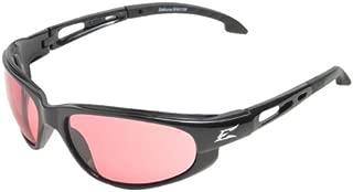 Edge Eyewear SW119 Dakura Safety Glasses, Black with Rose Mirror Lens