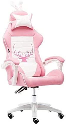 HJW Silla de juegos, silla de oficina ergonómica Silla de carreras Silla de corazón Silla competitiva Silla de carreras sin reposapiés Sillón