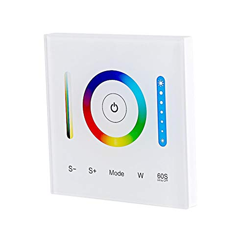 LED-Controller Milight Kapazitiver Touchscreen-Wandcontroller für RGB RGBW RGB + CCT Dimmbar Farbwechsel DC 12-24V Touch-Taste mit Sound