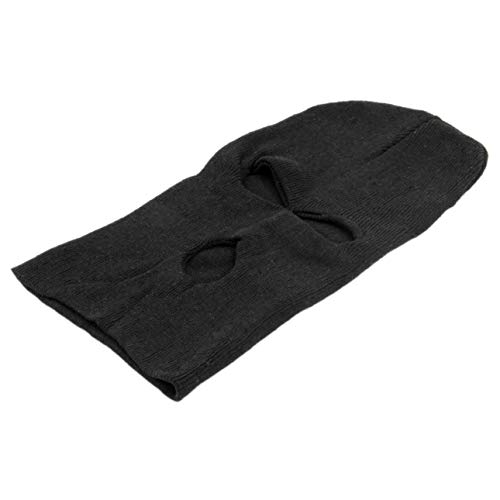Pudincoco Pasamontañas Negro Estilo de la Moda SAS CS Style Winter Wind Ski Hat para Hombres Mujeres Cap 3 Hole Mask Neck Warmer Apparel