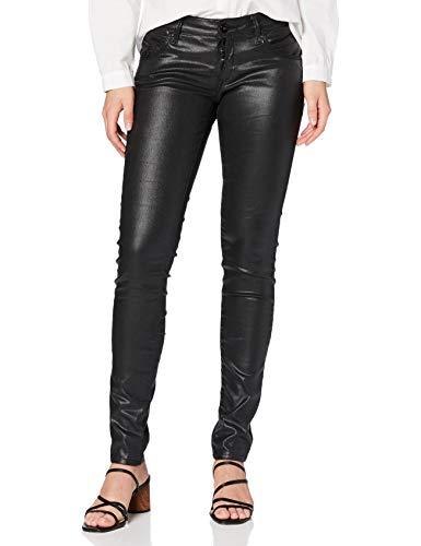 Mavi Damen Serena Skinny Jeans, Schwarz (Black Galactic Denim 24666), W28/L30