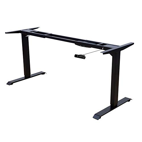 ALBATROS Schreibtisch-Gestell Lift S5B, schwarz, 2X Motoren, elektrisch höhenverstellbar mit Memory-Funktion, Kollisionsschutz und Soft-Start/Stop
