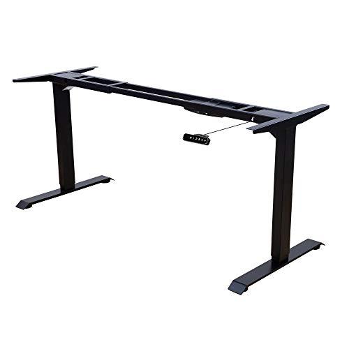 Albatros Schreibtisch-Gestell Lift, schwarz, 2X Motoren, elektrisch höhenverstellbar mit Memory-Funktion, Kollisionsschutz und Soft-Start/Stop