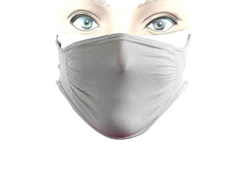 Body&Co Pack 5 pezzi, Fascia viso protettiva idrorepellente prodotta in tessuto di poliammide, lavabile e riutilizzabile ideale per lo sport all'aperto