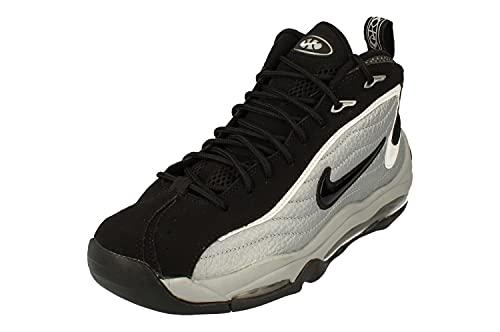 Nike Air Total Max Uptempo, Scarpe da Basket Uomo, Mtlc Silver/Black-White-Black, 43 EU