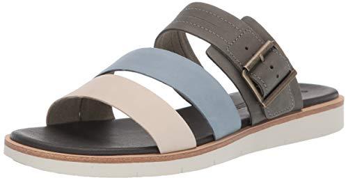 Timberland Women's Adley Shore Slide Summer Flat Sandals, Medium Grey Full Grain, 10 Medium US