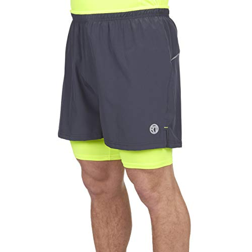 Mens Activewear Sports Running Shorts (Large, Charcoal)