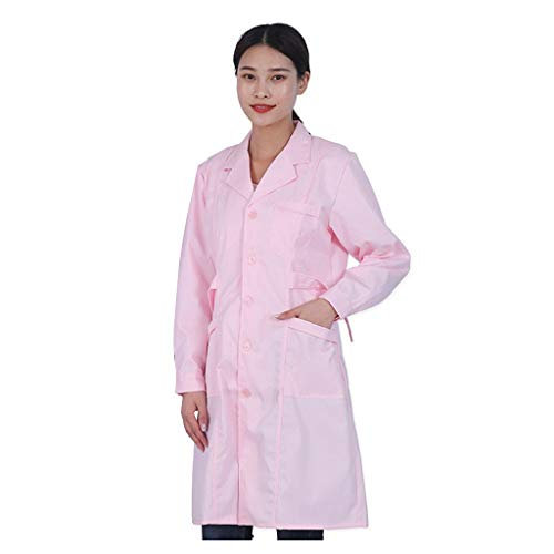 Lloopyting Disposable Protective Coverall Surgical Gown Doctor Nurse Clothes Workwear Pink
