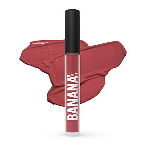 Banana Beauty Heat Me! (3 ml) – Semi Matte Liquid Lipstick – kussechter Lippenstift Nude für voluminöse Lippen – verführerischer Lipgloss matt – Kupfer Nude-Ton