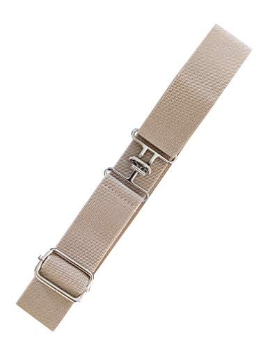 Equestrian Elastic Belt For Women, Stretchable And Comfortable Waist Belt (Champagne Silver Surcingle)