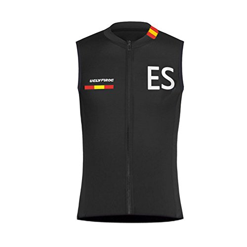 BurningBikewear Uglyfrog Ciclismo Maillots Sin Mangas Traje Ciclista Verano/Primavera Transpirable Cómodo Chalecos Cycling Vest MES2019MJ03