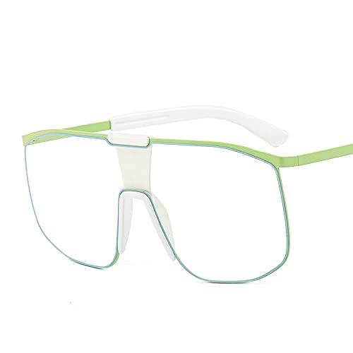 ShZyywrl Gafas De Sol De Moda Unisex Gafas De Sol De Moda para Mujer, Gafas De Sol De Una Pieza Vintage para Hombre, Gafas Transparentes De Piloto Retro C5